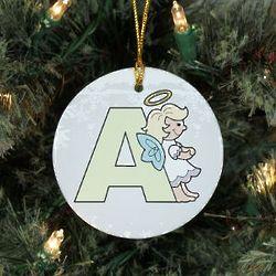 Personalized Ceramic Alphabet Angel Ornament
