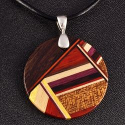 Layered Round Wood Pendant