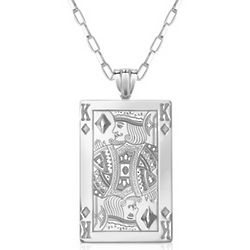 Sterling Silver King of Diamonds Necklace