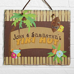 Tropical Paradise Personalized Slate Plaque