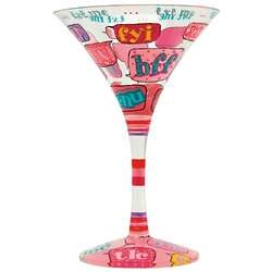 Text Me Martini Glass