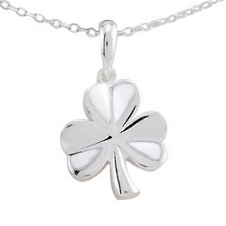 Sterling Silver Shamrock Pendant Necklace