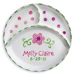 Flower Personalized Divided Plate