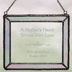Vintage Glass Personalized Verse Suncatcher