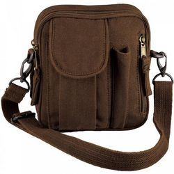 Brown Excursion Organizer Shoulder Bag