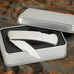 Stainless Steel Personalized Lock-Back Knife