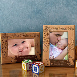 Personalized Father's Day to Remember Wooden Picture Frame
