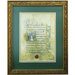 First Corinthians Love Book of Kells Framed Print