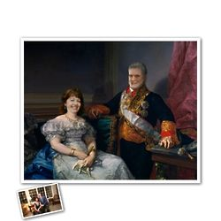 Royal Couple Custom Caricature Art Print