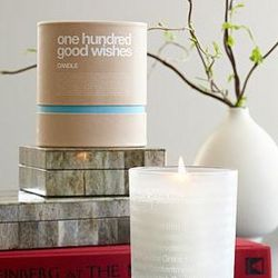 100 Good Wishes Candle