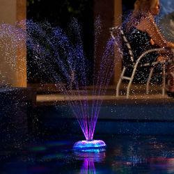Music Sync Dancing Floating Pool Fountain and Light Show