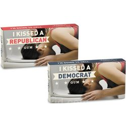 I Kissed A Republican or Democrat Gum