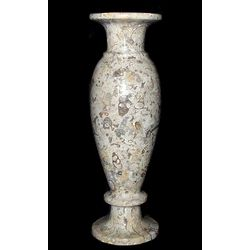 Fossil Coral Marble Vase