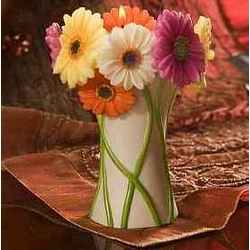Gerbera Daisy Bouquet Tea Lite Candle Holder