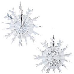 """15"""" Tissue Snowflakes"""