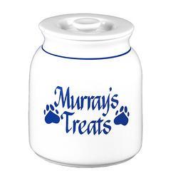 Personalized Paw Print Treat Jar