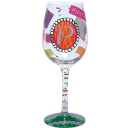 """P"" Wine Glass"