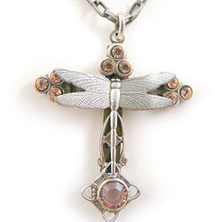 Dragonfly Cross Necklace
