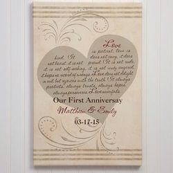 Personalized Love Is Patient Canvas Art