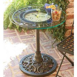 Mosaic Clock Table