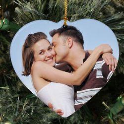 Personalized Ceramic Photo Heart Ornament