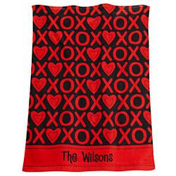 Personalized Valentine Hand Towel