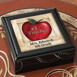 Personalized Teacher Keepsake Box