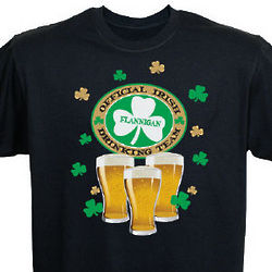 Irish Drinking Team Personalized T-Shirt