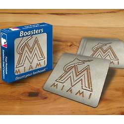 Miami Marlins Boaster Coasters