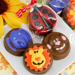 Animal Themed Chocolate Covered Oreo Cookie Favors