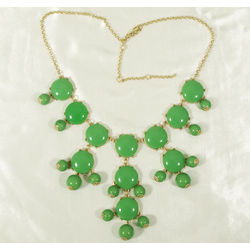 Green Bubble Bib Statement Necklace