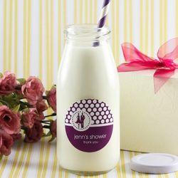 Personalized Milk Jar Favors