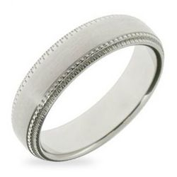 Stainless Steel Band with Milgrain Edging