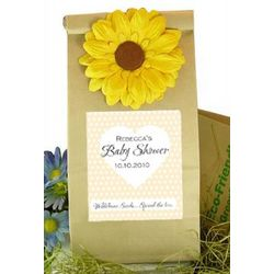 Wildflower Seeds Personalized Baby Shower Favor