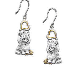 Purr-Fect Companion Cat Lover Earrings