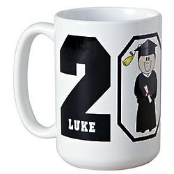 Black Personalized Graduation Character Mug