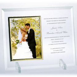 Personalized 4x6 Flat Beveled Glass Frame