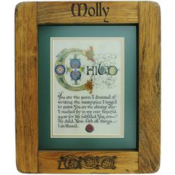 To My Child Book of Kells Framed Print