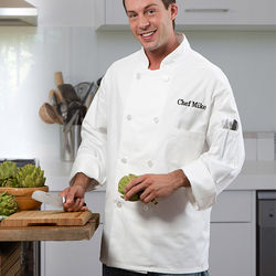 Personalized Chef's Jacket with Embroidered Name