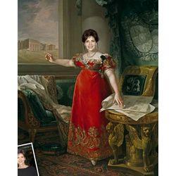 Queen of Spain Custom Caricature Art Print