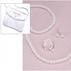 Flower Girl's Basic Pearl Jewelry Ensemble