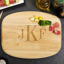 Classic Monogram Personalized Wood Cutting Board