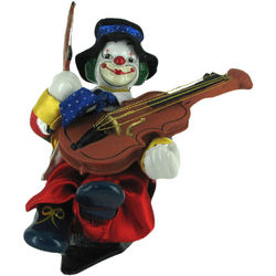 Violin Playing Animated Wind-Up Musical Clown