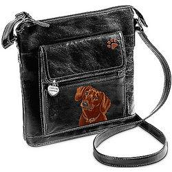 I Love My Dachshund Faux Leather Crossbody Bag