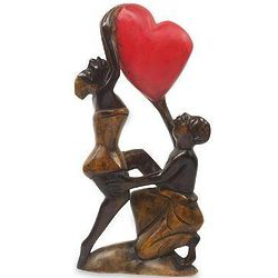 The Love Struggle Wood Sculpture