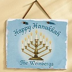 Personalized Hanukkah Wall Slate
