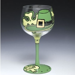 Get Lucky Wine Glass