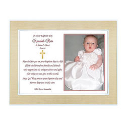 Baptism Framed Poem for Baby Girl