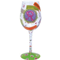 """R"" Wine Glass"