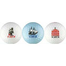 Sleeve of Boston Golf Balls